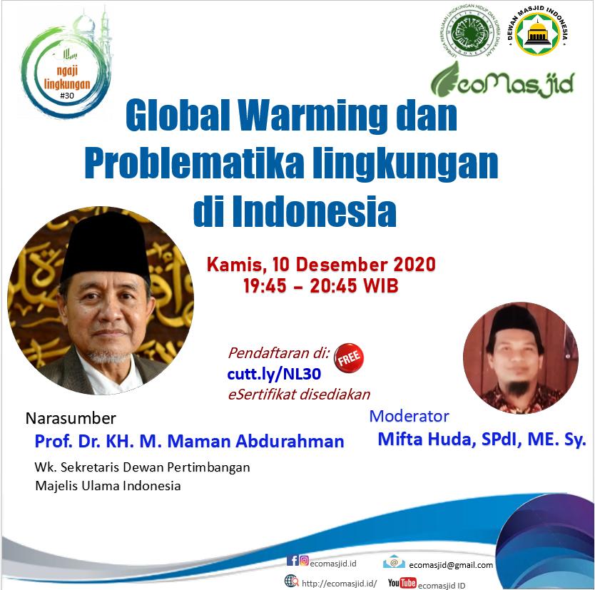 Global Warming dan Problematika lingkungan di Indonesia